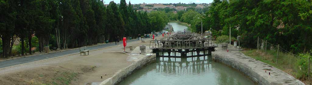 seven locks at Fonseranne - Beziers Ecluse
